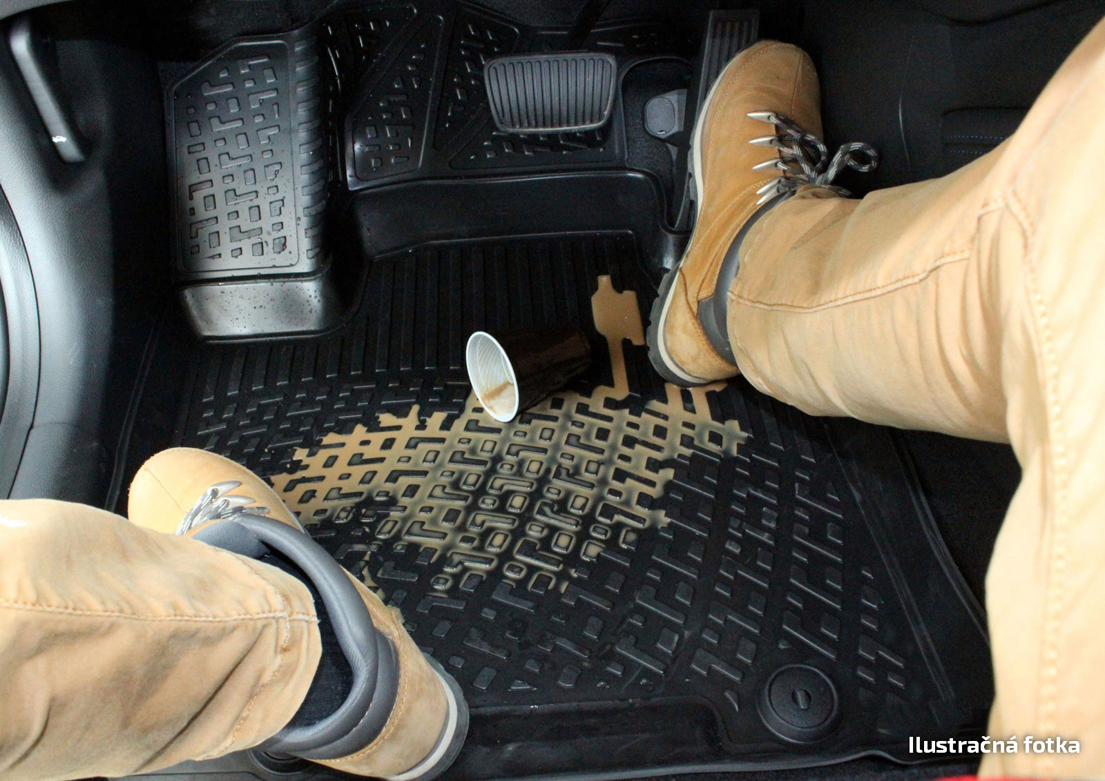 Poza cu Covorase din cauciuc tip tavita Premium, Mitsubishi Outlander, 2014-